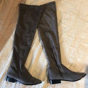 ALDO Grey Over-the-Knee Boots